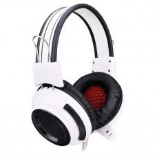 Гарнитура Oklick HS-G300 ARMAGEDDON Белый, черный 2.3м мониторы оголовье (AH-V1W