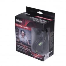 Гарнитура Ritmix RH-559M, черно-зеленый