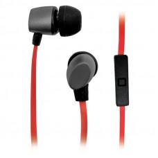 Гарнитура вкладыши BBK EP-1560S 1.2м серый/оранжевый проводные