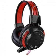 Гарнитура Oklick HS-G300 ARMAGEDDON Черный/красный 2.5м мониторы оголовье (AH-V1)