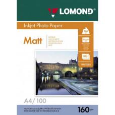 Бумага Lomond Paper Matte Quality  A4, 160g/m2, (100л) (0102005)