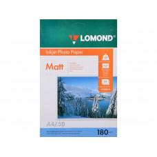 Бумага Lomond Paper Matte Quality A4, 180г/м, (50л.) (0102014)