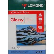Бумага Lomond Paper Glossy A4, 200g/m2, (50л) (0102020)