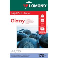 Бумага Lomond Paper Glossy A4, 170g/m2, (25л) (0102143)